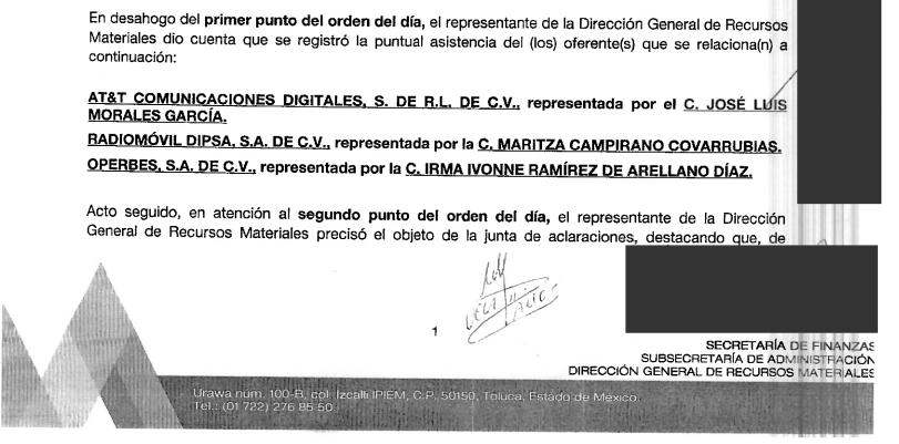 CELULARES DE BURÓCRATAS