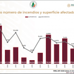Aumenta 644.22 % daños por incendios forestales