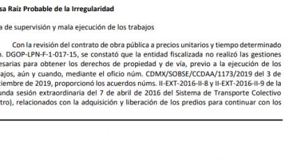 Mantienen irregularidades en ampliación de Línea 12
